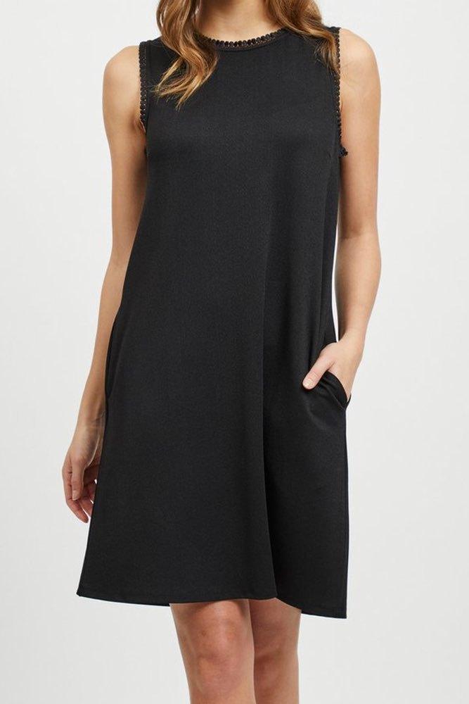 c521d6e4d916 Vila Visalda S/l Dress Black - Klänningar - Tintinstyle