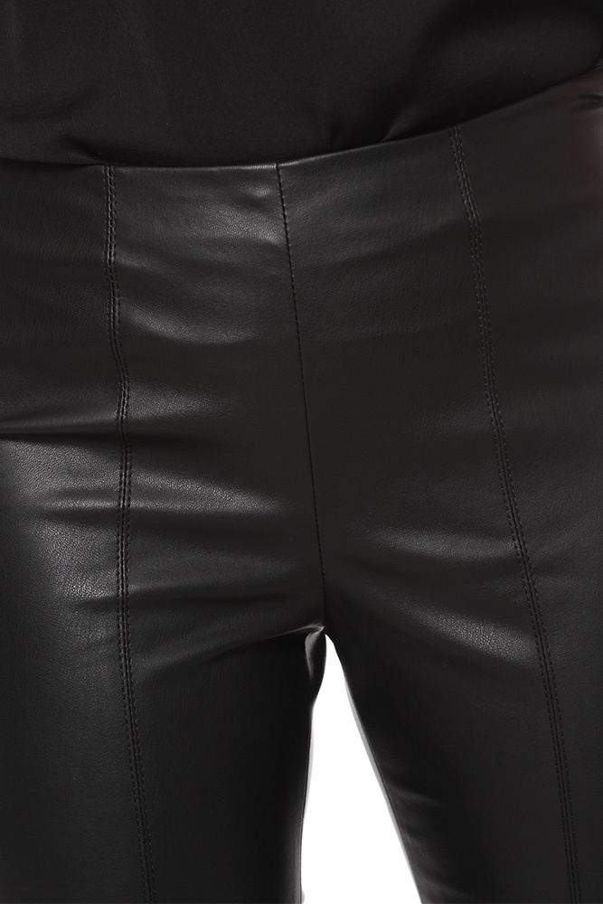 Vila Vipale Faux Leather Black