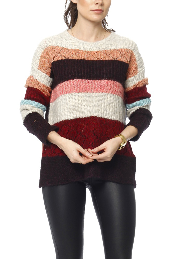 Odd Molly Wolly Blocks Sweater Red Sky
