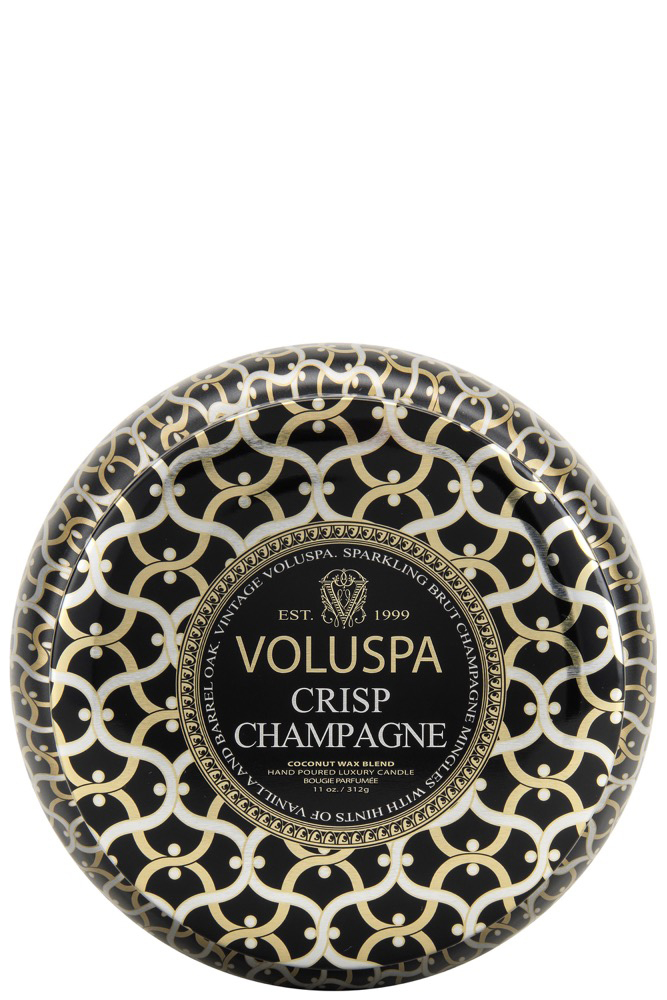 Voluspa 2-wick In Tin 50tim Crisp Champagne