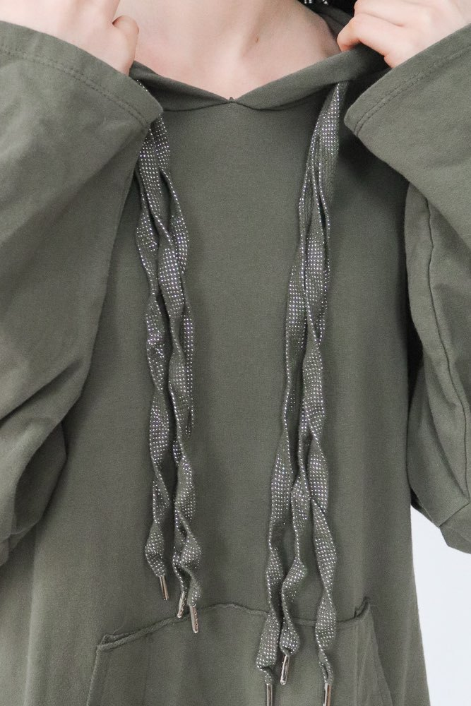 Zmillas Hood Sweater Long Army