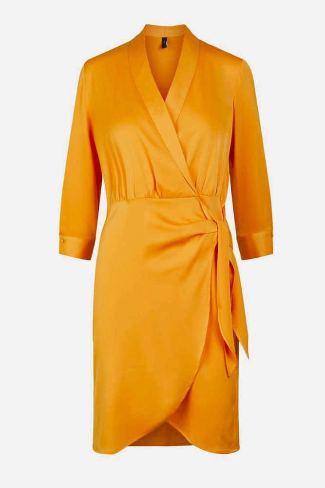 YAS Yascadmi 3/4 Dress S. Cadmium Yellow