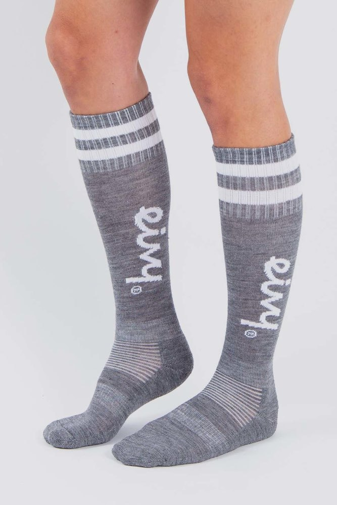 Eivy Socks-under Knee Grey Melange