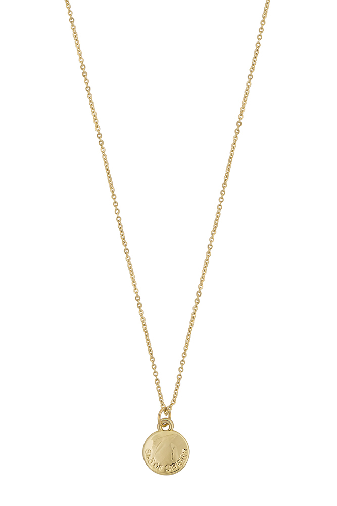Snö of Sweden It Coin Pendant Neck 40 Plain Gold