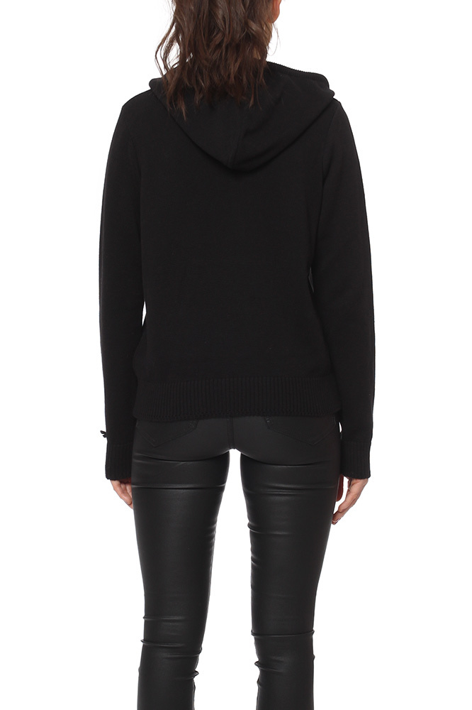 Odd Molly Hey Baby Hood Sweater Almost Black
