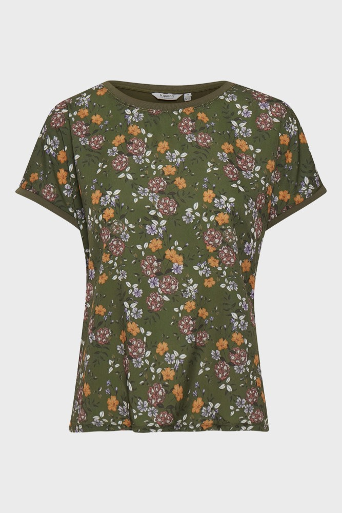 B.YOUNG Bypanya Tshirt Flower Olive Night Com