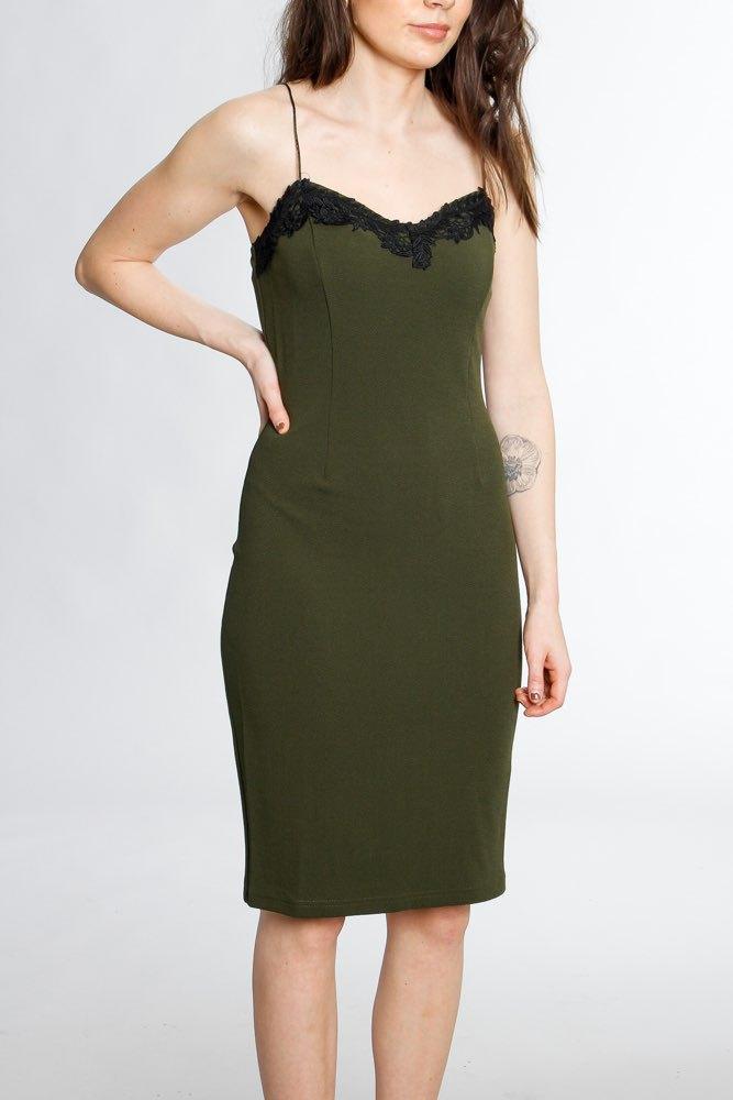 205fbffbb3a8 Rut & Circle Strap Midi Dress Vintage Olive - Klänningar - Tintinstyle