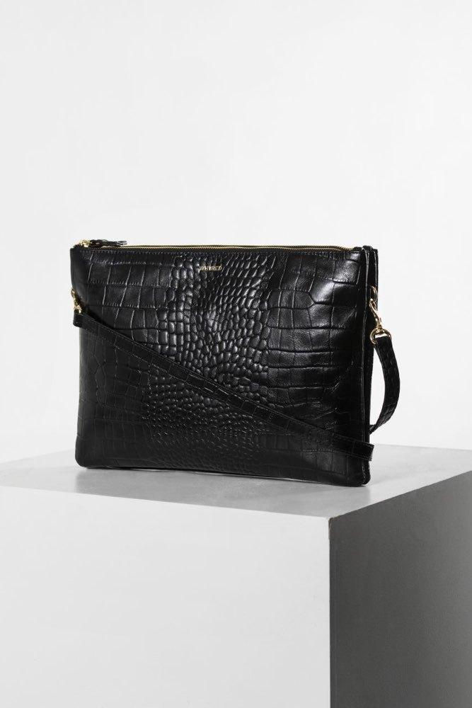 Whyred Kira Double Big Croco Black