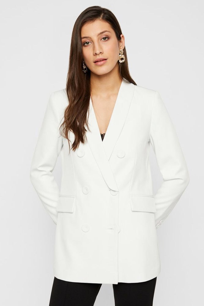 YAS Yasgolden Ls Blazer Icons Star White