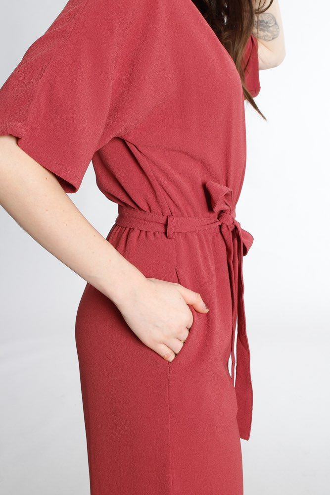 Rut & Circle Ofelia Jumpsuit Old Rose