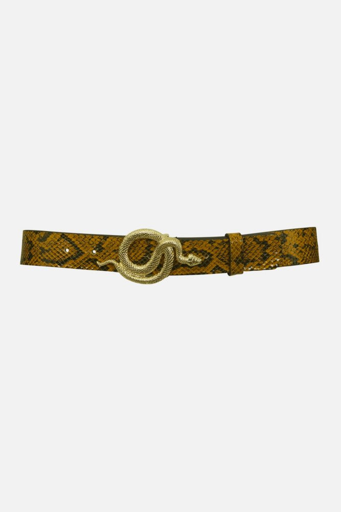Notes du Nord Milo Leather Belt Snake Autumn Snake