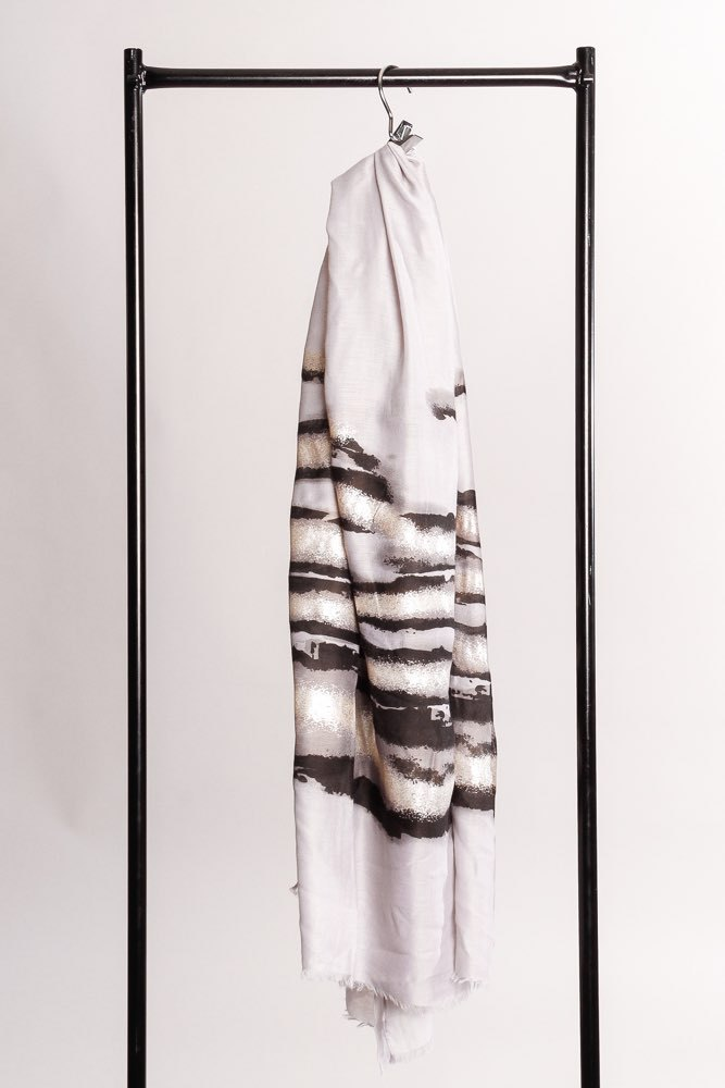 Zmillas Mix Scarf Zebra Silver Blue