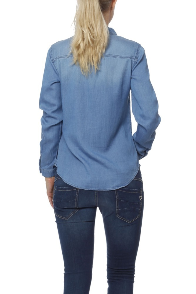 Vila Vi Bista Denim Shirt Med Blue Denim