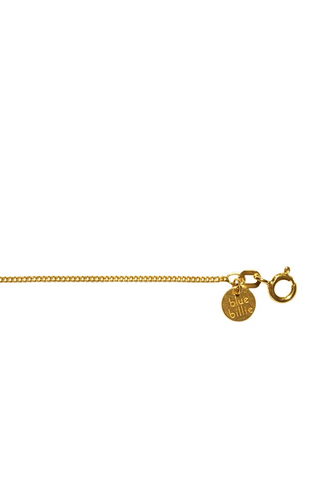 Blue Billie Chain Curb Gold Plated