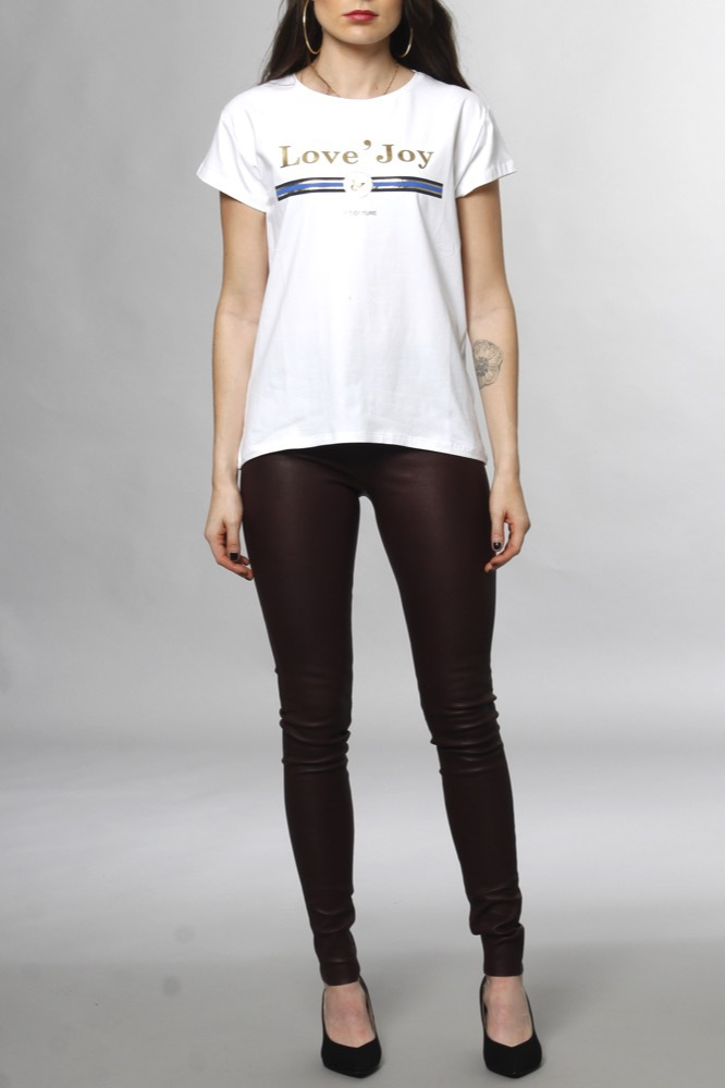 CO'COUTURE New Cosma Couture Tee White/navy