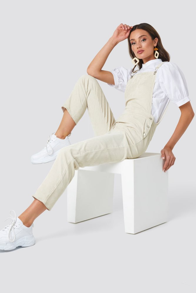 Rut & Circle Cornelia Dungaree Leight Beige