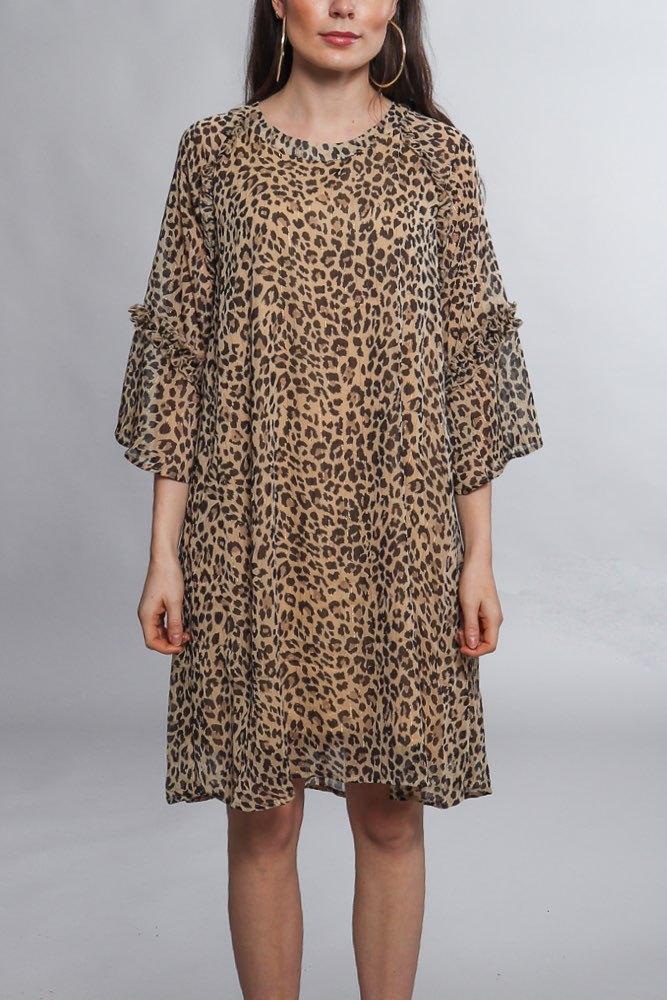 89ee7a9f8b17 Rue de Femme Viva Spring Dress Leopard - Klänningar - Tintinstyle