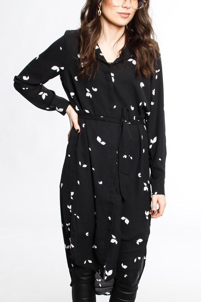 Selected Femme Slf Dynella Ls Aop Dress Black Aop