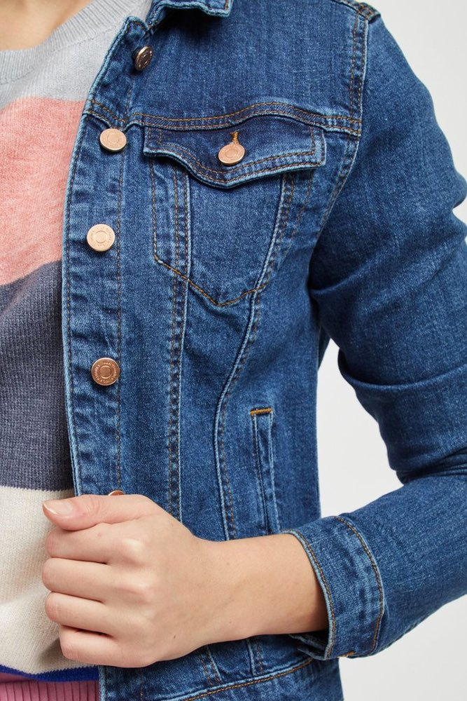 Vila Vishow Denim Jacket Med. Blue Denim