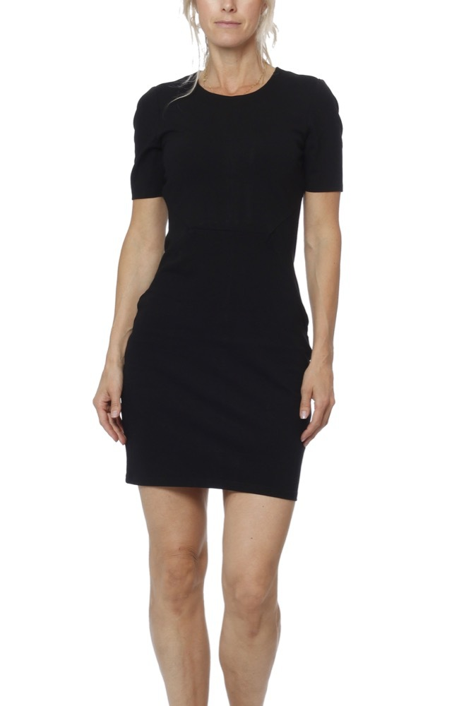 c74cc1c9f3f2 Vila Vifellow S/s Dress Black - Klänningar - Tintinstyle