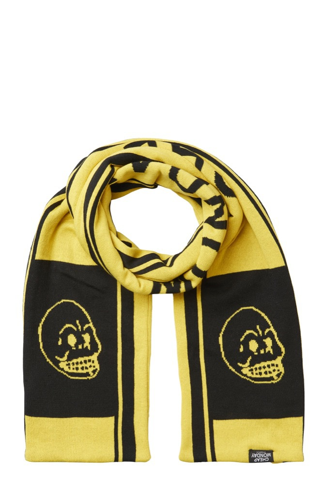 Cheap Monday Cheap Scarf Logo Yellow