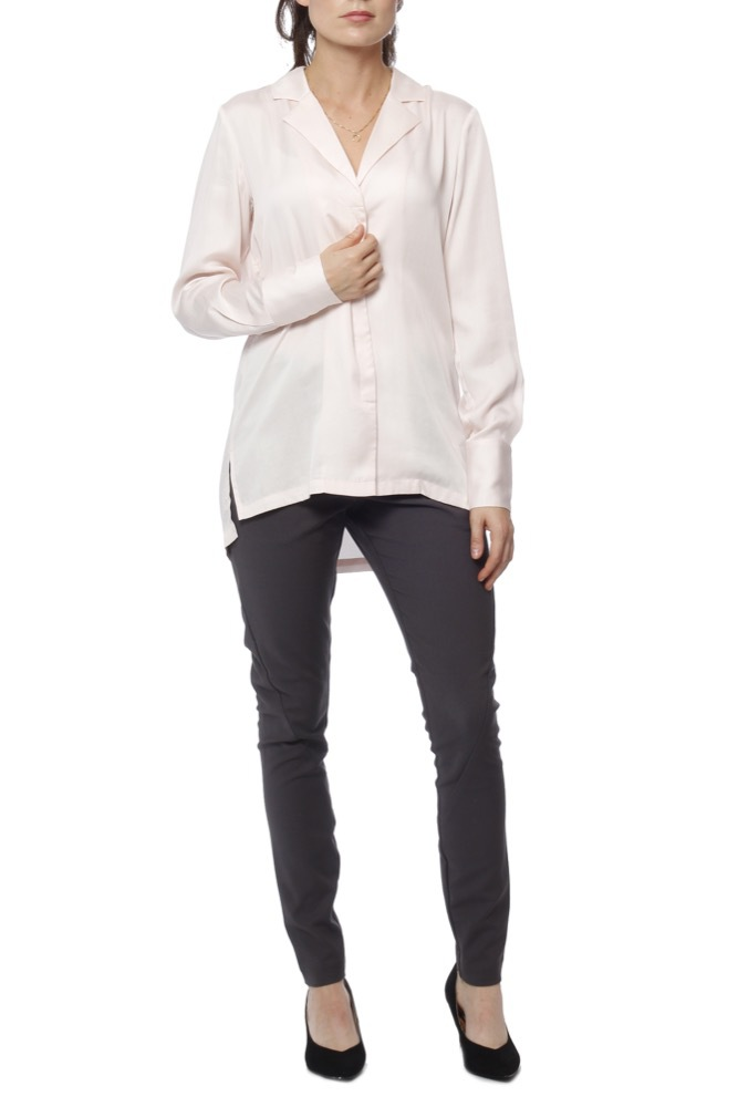 Selected Femme Slfgold Dynella Ls Shirt Heavenly Pink