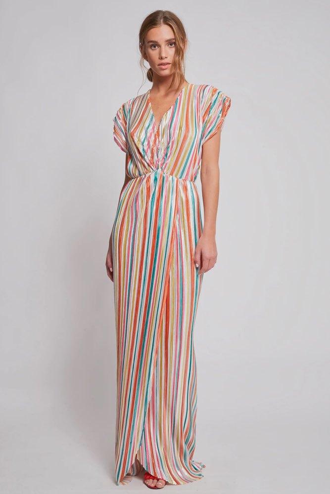 3ce4ba1d0512 Dry Lake Sunny Long Dress Carousel Print - Klänningar - Tintinstyle