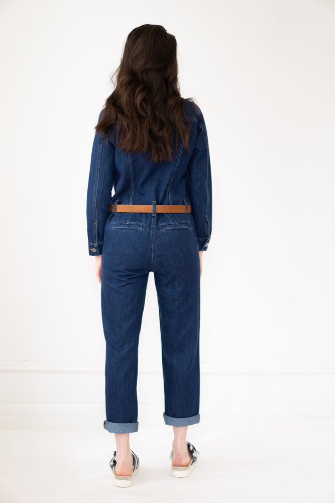 CO'COUTURE Marceau Denim Jump Suit Dark Denim
