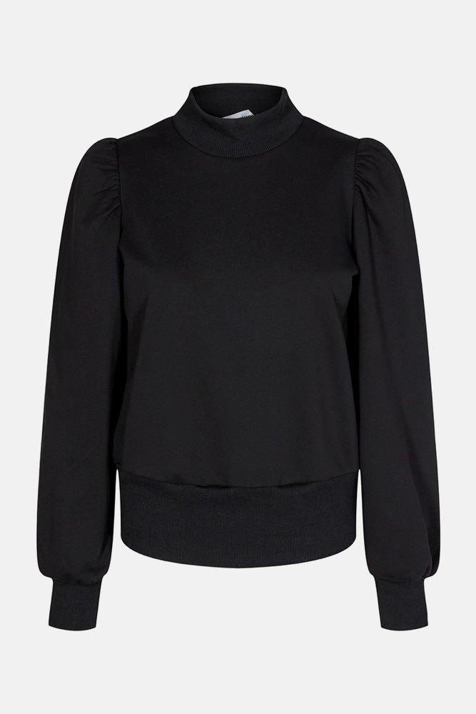 CO'COUTURE Puff Sleeve Sweatshirt Black Tröjor Tintinstyle