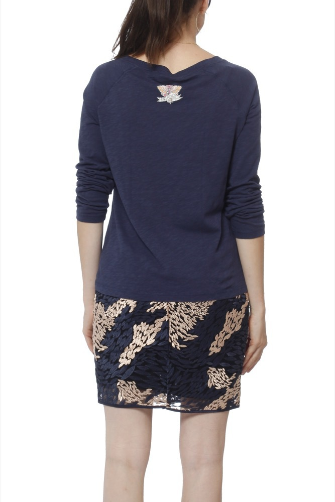 Odd Molly Well Being L/s Top Dark Blue