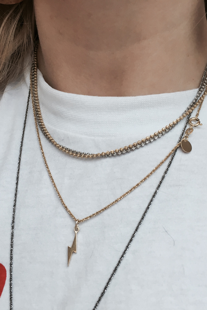 Blue Billie Chain Universe 40 Gold Plated