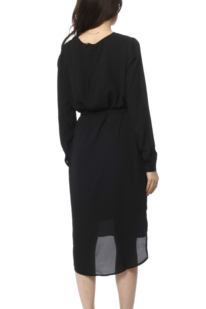 Selected Femme Slfdynella Ls Dress Black