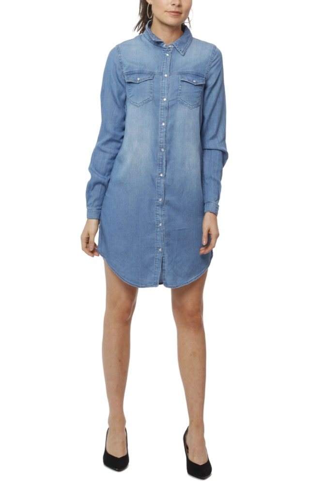 Vila Vibista Denim Dress Med Blue Denim