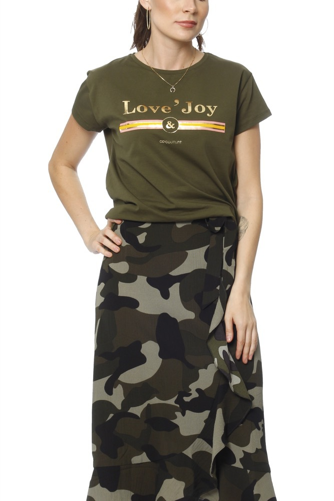 CO'COUTURE New Cosma Couture Tee New Army