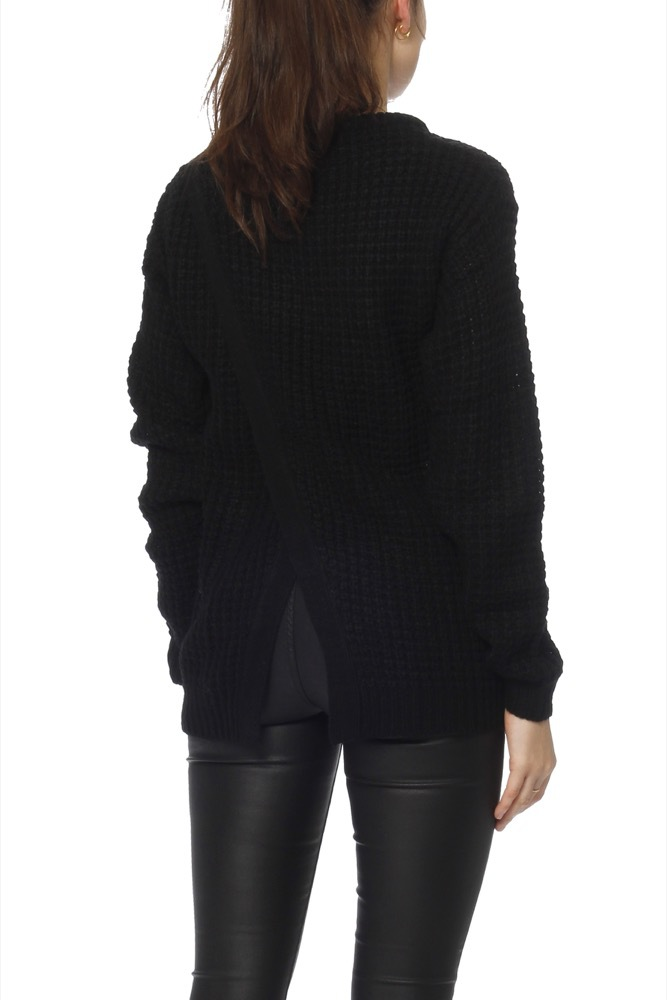 Rut & Circle Samira Open Back Knit Black