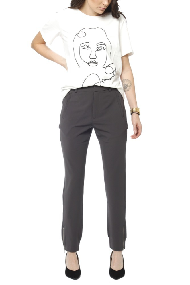 InWear Nica L Pants Hw Blackened Pearl