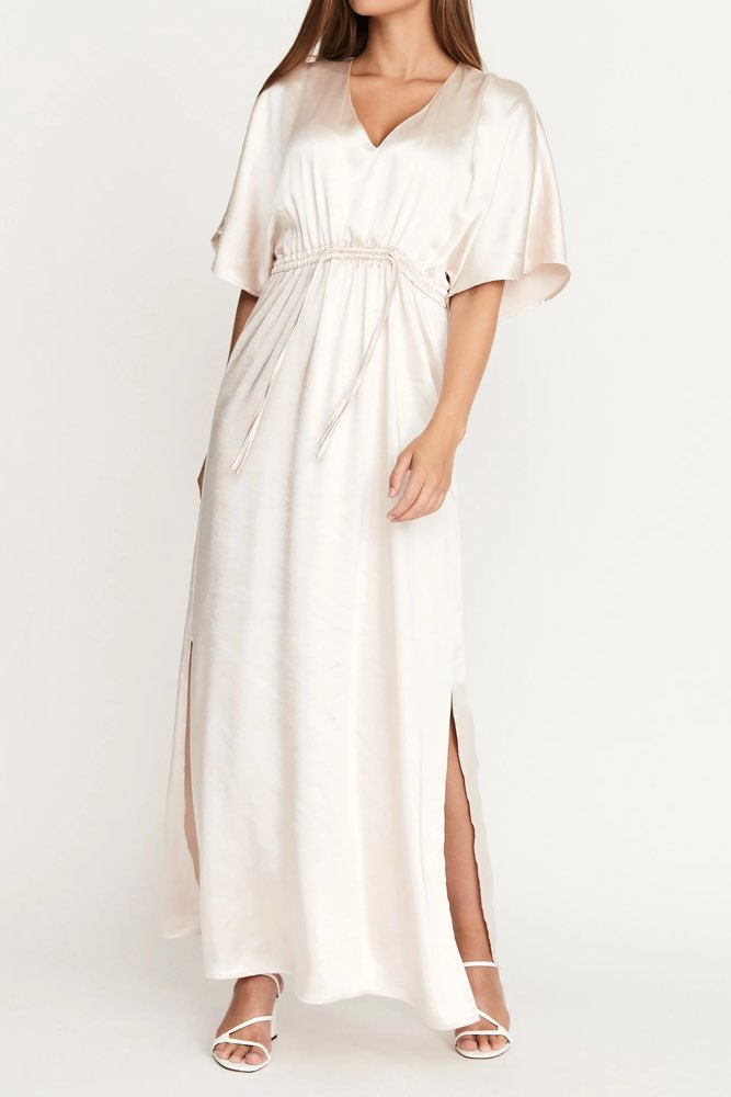 Dry Lake Valentina Long Dress Light Pink