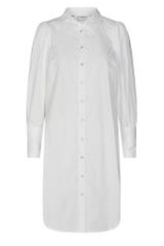 CO'COUTURE Collie Puff Shirt Dress White