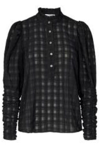 CO'COUTURE Rowland Puff Sleeve Shirt Black
