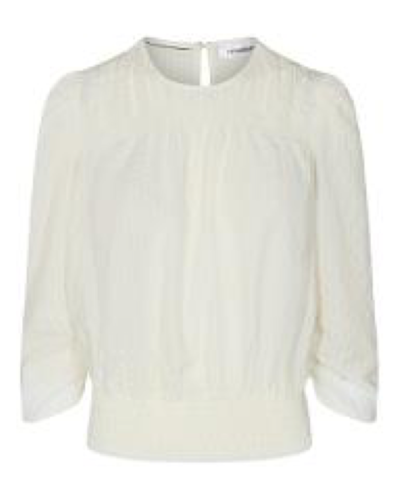 CO'COUTURE Ange Check Blouse Off White
