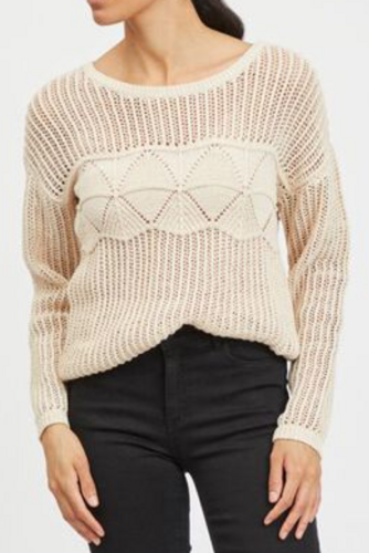 Vila Vilelas L/s O-neck Patter Birch