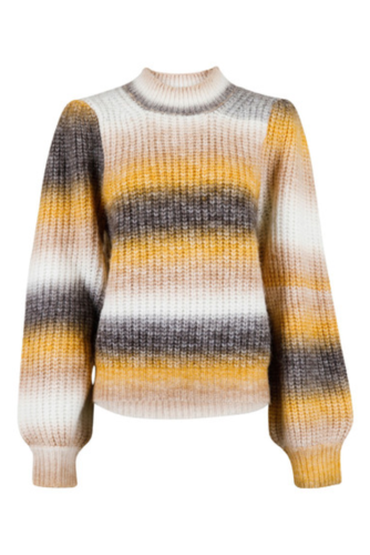 Neo Noir Aria Ombre Knit Blouse Mustard