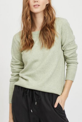 Vila Viril L/s O-neck Knit Top Desert Sage