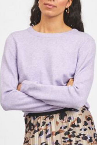 Vila Viril L/s O-neck Knit Top Lavender