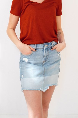 Vila Videressa Rw Denim Skirt Med.denim Blue