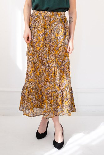 CO'COUTURE Rive Gipsy Skirt Mustard