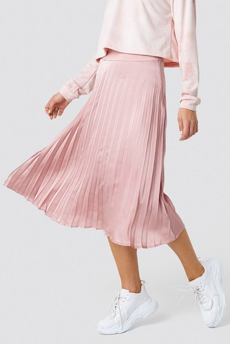 Rut & Circle Bianca Pleated Skirt Dusty Pink