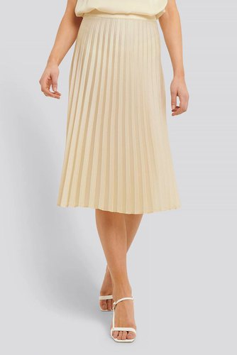 Rut & Circle Bianca Pleated Skirt Light Beige
