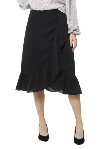 Neo Noir Mika Solid Skirt Black