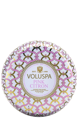 Voluspa 2-wick In Tin 50tim Pink Citron